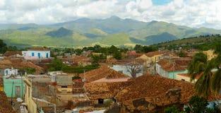 Panorama da arquitectura da cidade de Trinidad, Cuba Foto de Stock Royalty Free
