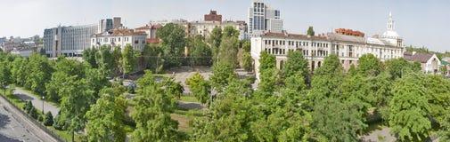Panorama da arquitetura da cidade de Dnipropetrovsk, Ucrânia Fotografia de Stock