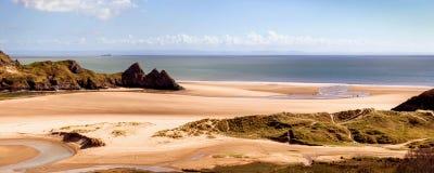 Panorama da baía de três penhascos Foto de Stock Royalty Free
