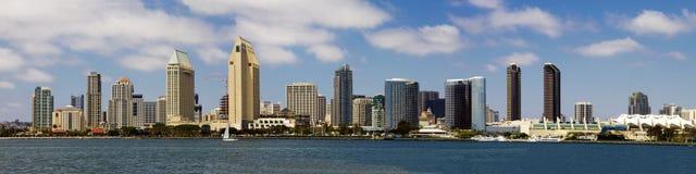 Panorama da baixa da arquitectura da cidade do beira-mar de San Diego Imagem de Stock