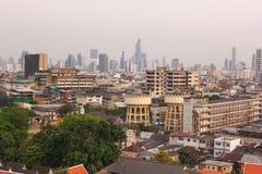 Panorama da Banguecoque de nivelamento Fotografia de Stock Royalty Free