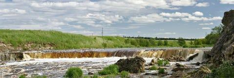 Panorama da cachoeira Fotos de Stock Royalty Free
