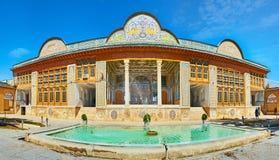Panorama da casa de Qavam em Shiraz, Irã Imagem de Stock