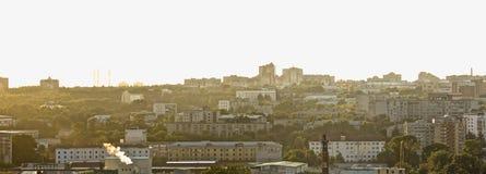 Panorama da cidade Fotografia de Stock Royalty Free
