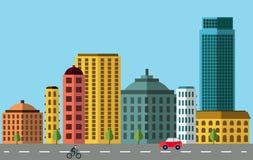 Panorama da cidade ilustração stock