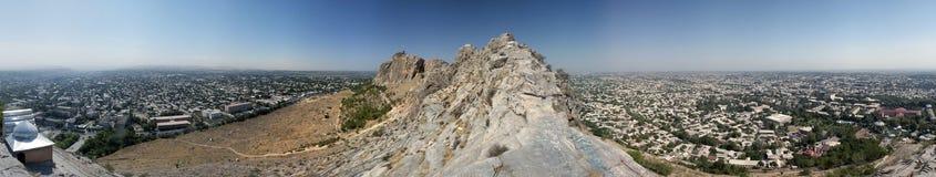 Panorama da cidade antiga de Osh Imagens de Stock