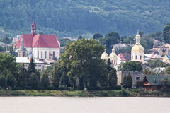 Panorama da cidade Berezhany. Foto de Stock