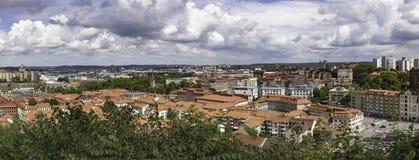 Panorama da cidade com vista sobre a Suécia de Goteborg Imagem de Stock