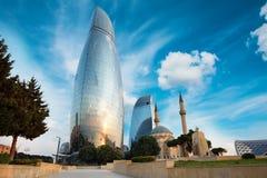 Panorama da cidade de Baku, Azerbaijão foto de stock royalty free