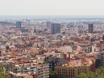 Panorama da cidade de Barcelona da parte superior imagem de stock royalty free