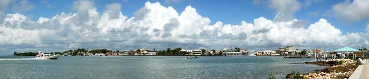 Panorama da cidade de Belize fotos de stock