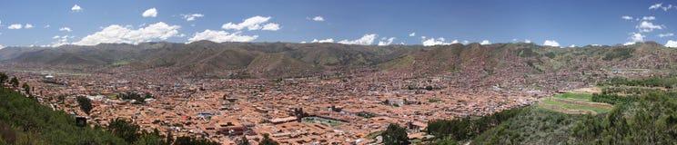 Panorama da cidade de Cusco (Cuzco) Imagem de Stock