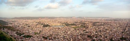 Panorama da cidade de Jaipur disparado de Nahargarh Fotos de Stock