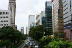 Panorama da cidade de Jakarta em Indonésia Imagens de Stock