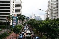 Panorama da cidade de Jakarta em Indonésia Fotografia de Stock Royalty Free