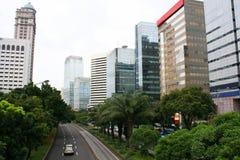 Panorama da cidade de Jakarta em Indonésia Imagens de Stock Royalty Free