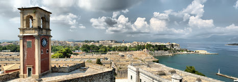 Panorama da cidade de Kerkyra Fotografia de Stock