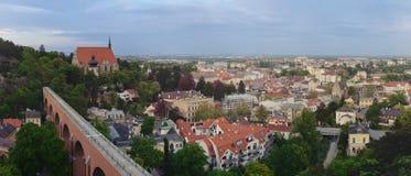 Panorama da cidade de Modling na Baixa Áustria Foto de Stock Royalty Free