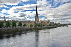 Panorama da cidade de Perth foto de stock royalty free