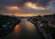 Panorama da cidade de Porto portugal Fotografia de Stock