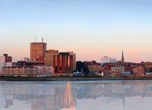 Panorama da cidade de Saint John, Novo Brunswick Fotos de Stock Royalty Free