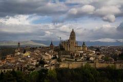 Panorama da cidade de Segovia Imagem de Stock Royalty Free