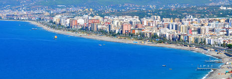 Panorama da cidade de Turquia - de Alanya fotos de stock royalty free