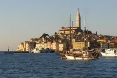 Panorama da cidade do beira-mar Fotografia de Stock Royalty Free