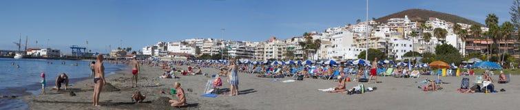 Panorama da cidade do Los Americas, Tenerife, Ilhas Canárias, Espanha Fotos de Stock Royalty Free