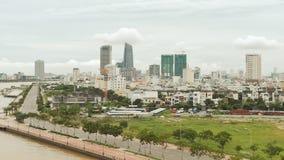 Panorama da cidade do Da Nang em Vietname dia imagens de stock