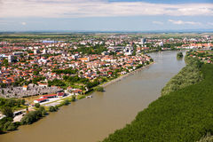 Panorama da cidade do Osijek fotografia de stock royalty free