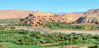 Panorama da cidade fortificada em Marrocos Imagem de Stock Royalty Free