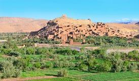 Panorama da cidade fortificada em Marrocos Fotografia de Stock