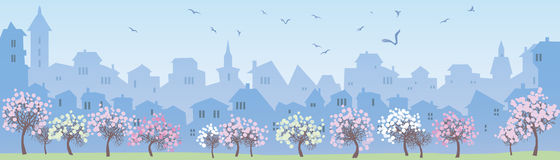 Panorama da cidade grande Imagem de Stock Royalty Free