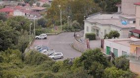 Panorama da cidade Minturno Itália video estoque