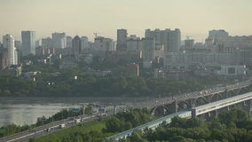 Panorama da cidade no nascer do sol video estoque