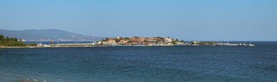 Panorama da cidade velha de Nessebar, Bulgária Imagem de Stock