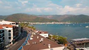 Panorama da cidade velha Vista superior dos telhados da est?ncia tur?stica de Marmaris, Turquia Vista bonita de cima de sobre de vídeos de arquivo