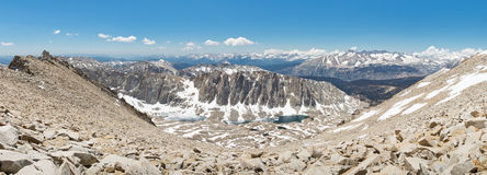 Panorama da cimeira de Mount Whitney Foto de Stock Royalty Free