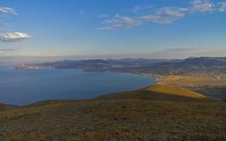 Panorama da costa Crimeia do Mar Negro Foto de Stock
