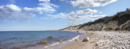 Panorama da costa da ilha de bloco fotografia de stock