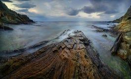 Panorama da costa de Córsega Foto de Stock