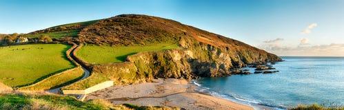 Panorama da costa de Cornsih fotografia de stock royalty free