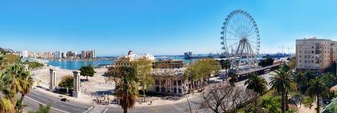 Panorama da costa de mar de Malaga Imagens de Stock