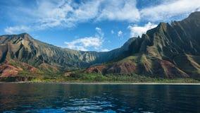 Panorama da costa do Na Pali em Kauai fotos de stock royalty free