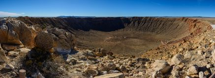 Panorama da cratera do meteoro Fotografia de Stock Royalty Free
