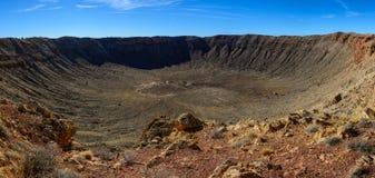 Panorama da cratera do meteoro imagem de stock