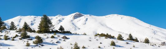 Panorama da estância de esqui de Ziria em Greeece Foto de Stock Royalty Free