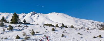 Panorama da estância de esqui de Ziria em Trikala de Corinth em Grécia Imagem de Stock Royalty Free