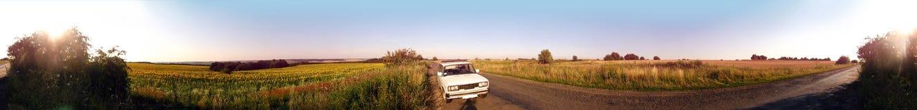 Panorama da estrada secundária 360° Foto de Stock Royalty Free